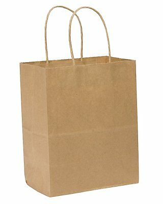 SafePro LIN 10x5x13-Inch Kraft Paper Bag with Handles, 250/CS