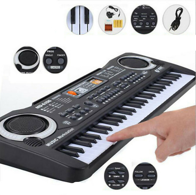 Kid Electric Keyboard Digital Music Piano 61 Keys Organ Microphone Children Gift