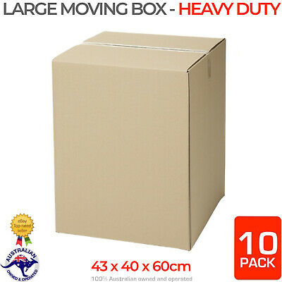 10 x HEAVY DUTY Large Tea Chest Moving Boxes Removalist Packing Cardboard Box