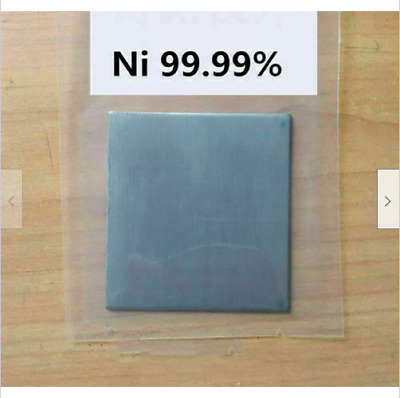 Pure Nickel Metal Thin Sheet Plate 0.5mm x 200mm x 200mm Electroplating Anode na
