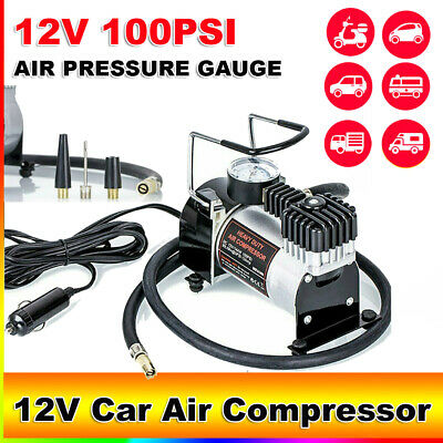12V 100Psi Car Air Compressor Tyre Deflator Portable Inflator Pump Heavy Duty Os
