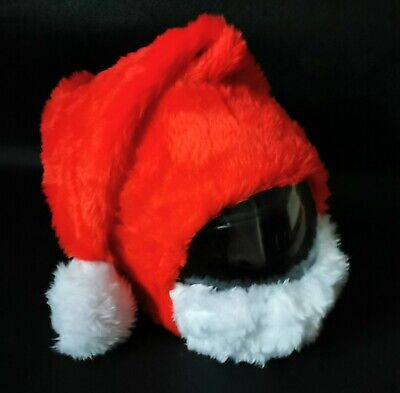 Motorcycle Santa Claus Helmet Covers Christmas Hats Santa Hat Funny Heeds Case