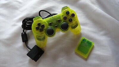 SONY PlayStation 2 Official Lemon Yellow DualShock 2 Controller & Memory PS2