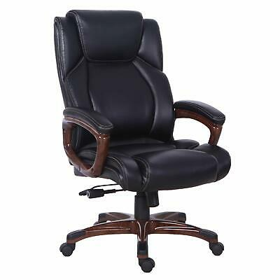 Bonded Leather Relining Office Chair, High Back Executive Computer Desk Chair