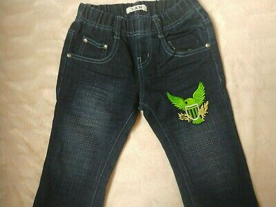 Boys blue jeans with eagle motif - Age  2 years