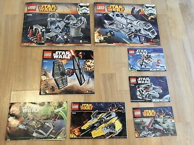 Lego Star Wars Instruction Manual Bundle x8 Great Condition