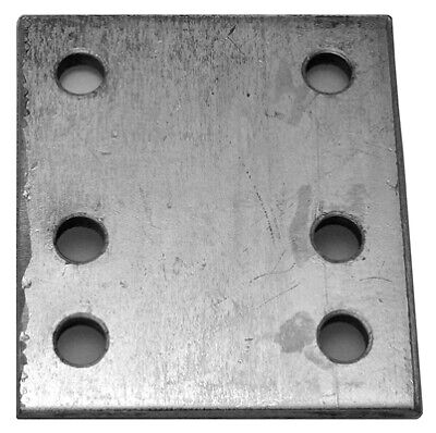 4 Inch 6 Hole Drop Plate Zinc Plated 233 Maypole Genuine Top Quality Product New