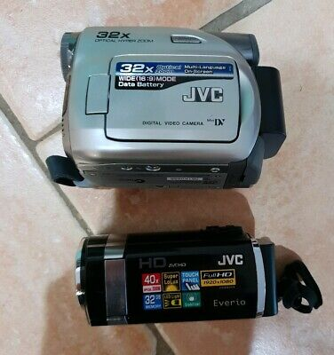 JVC Camcorders GZ-HM670BAA  Everio and GR-D350AA  Digital Video Camera with bag.