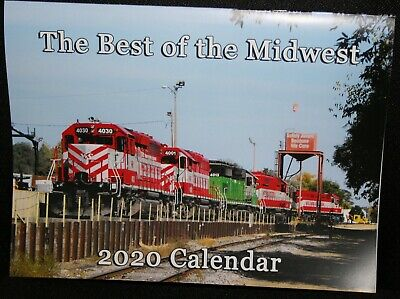 2020 THE BEST OF THE MIDWEST Railroad Trains Calendar- Limited Edition!