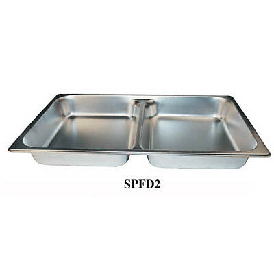 Winco SPFD2, 2.5-Inch Deep, Full-Size Stainless Steel Divided Steam Table Pan, N
