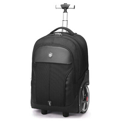 Aoking Rolling Travel Backpack Wheeled Laptop Rucksack 20 inch Trolley Luggage