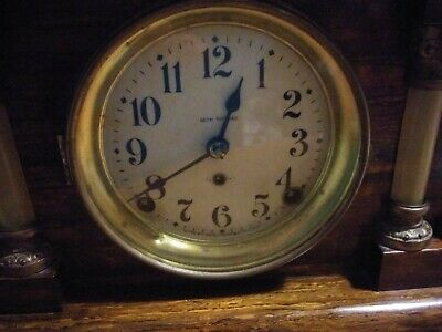 Antique 1890s/pre1900s Seth Thomas mahogany Adamantine Mantel Clock