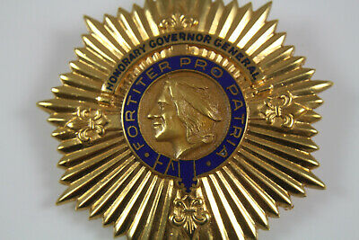 Honorary Governor General Badge with Indian Head Coin Looking Centerpiece 1950's
