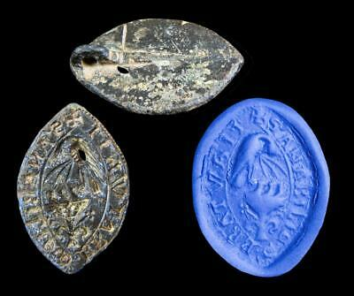 Provenanced British Medieval bronze seal for a Lady