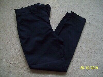 Ladies Black Denim Jeans/Smart Ankle Trousers by NEXT size 12, style 376-282-239