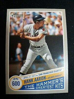 2019 Topps Heritage High Number Hank Aaron The Hammer's Greatest Hits Thgh-9