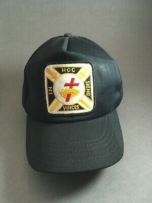 The Knights Templar  hat USA hat with red cross and crown IN HOC SIGNO VINCES