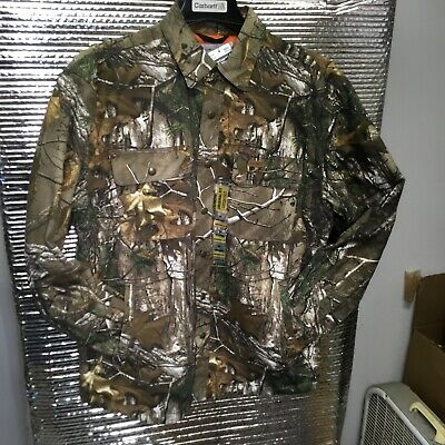 Ready to Ship RM1B-1462 Carhartt  Wexford Camo Quilt Lined Shirt//Jacket MEDIUM