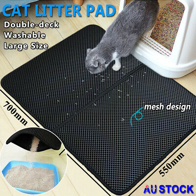 Double Layer Cat Litter Mat Trapper Waterproof Foldable Pad Pet Rug Honeycomb L