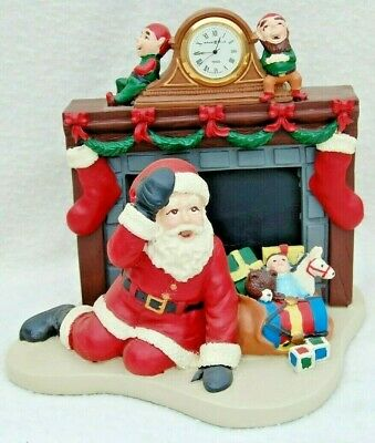 Howard Miller Down The Chimney He Came With A Bound 1998 Figurine Santa Claus