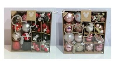 PRIMARK Disney Minnie & Mickey Mouse pack of 25 baubles Christmas Decorations