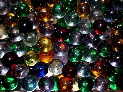 """50 CHAMPION 5//8/"""" RUBY RED  TRANSPARENT MARBLES $3.99 !! +or -"""