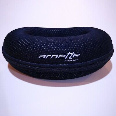 Arnette Sunglass Glasses Case Protective Hard Black Like New Zip Closure