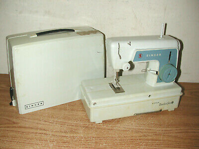 Vintage Singer Little Touch & Sew Mini Toy Sewing Machine Model 67A3 With Case