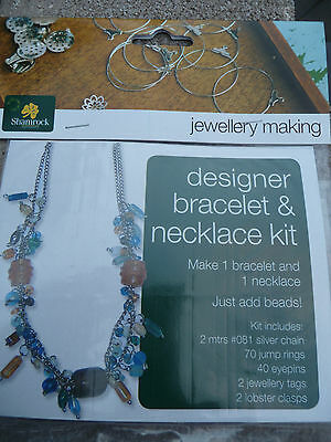 Jewellery making bracelet & necklace kit - Gold