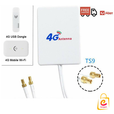 LTE TS9 Antenna Booster Amplifier Signal 28dBi for 4G 3G Mobile Wi-Fi and Dongle