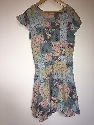 Next Girls Jumpsuit playsuit age 11 Patchwork Culottes Shorts  Excellent