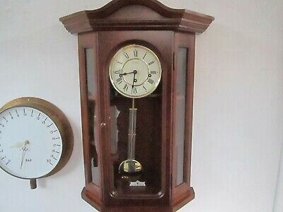 Vintage Hermle Westminster Chiming Stunning  Wall Clock In V.g.w.o.