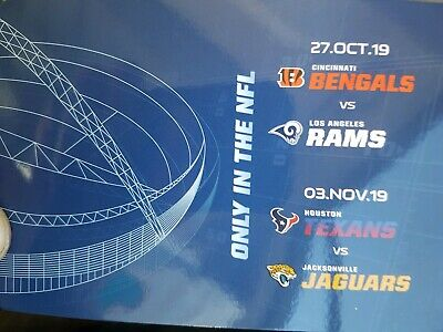 NFL Wembley Game Day Guide Bengals, Rams, Texans and Jaguars.