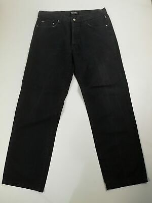 Mens Versace Jeans Trousers Couture Black Smart Casual Straight Size W34 L30