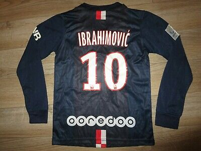Paris Saint Germain Ibrahimovic Jersey Youth S 10 Children UK 22