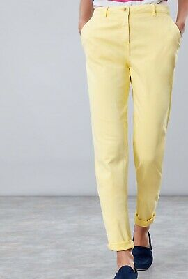 Joules Hesford Chinos Lemon Size UK 16 BNWT NEW