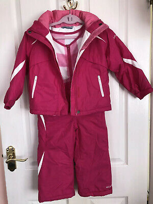 Columbia Ski Jacket And Trousers Buga 4T Hot Pink And White Checked age 4