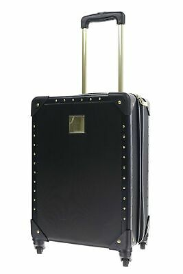 Vince Camuto 159774 Hard side Spinner Carry On Black w/ Gold Luggage 21""