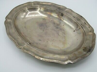 Vintage Liceves Sterling Silver Oval Serving Tray Platter Made in Mexico