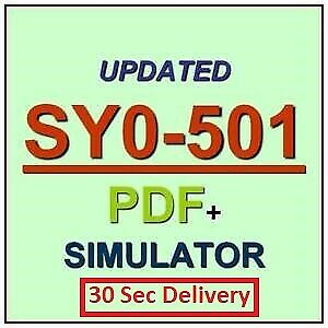 CompTIA Security SY0-501 Real Exam Q&A And Simulator🔥✔ 30 Sec Delivery📥