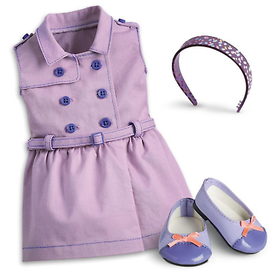 """American Girl TRULY ME TRAVEL IN STYLE DRESS for 18"""" Dolls Outfit Shoes NEW"""