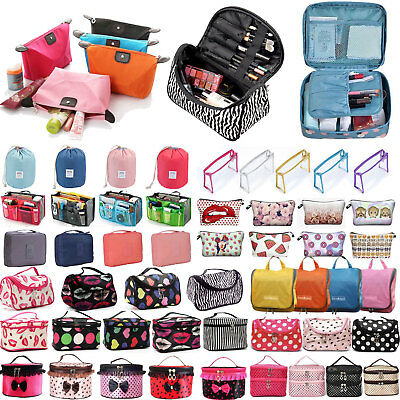 Women's Travel Organizer Toiletry Handbag Cosmetic Vanity Makeup Bag Cases Pouch