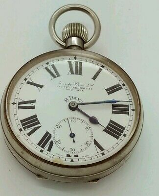 Hardy Brothers Ltd Eight Day Pocket Watch w/ silver framed case