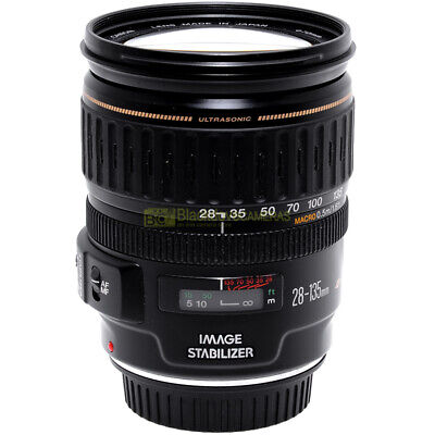 Canon EF 28/135mm. f3,5-5,6 USM IS MACRO obiettivo full frame AF stabilizzatore.