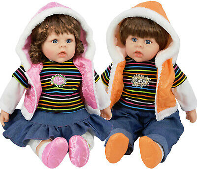 "20"" Large Toddler Baby Doll Lifelike Realistic Soft Bodied Girl / Boy Twin Dolls"