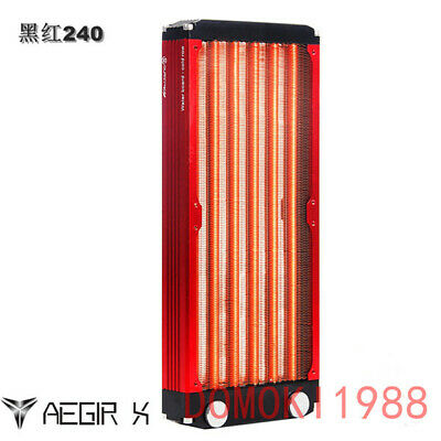 240MM aluminum+Copper Radiator 2x120mm for PC Computer Liquid Water Cooling