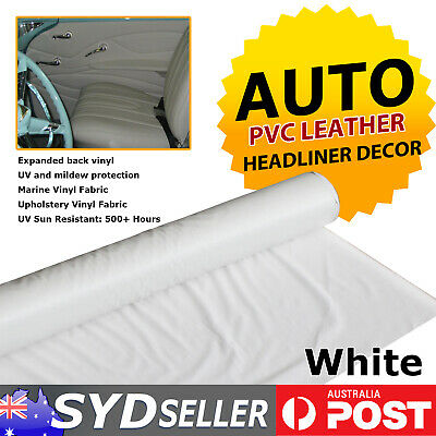 White Synthetic Leather Fabric Marine Vinyl Couch Auto Upholstery DIY Mending