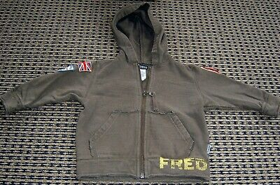 Fred Bare Boys Cotton  Zip Front Hoodie Jacket Sz  1