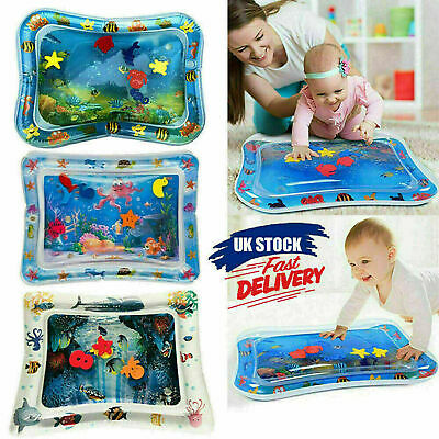 Large Inflatable Water Play Mat Infants Baby Toddlers Tummy Time Kid Sensory Toy