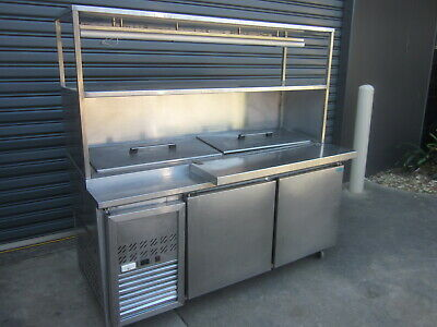 Pizza / Sandwich Prep Bench With Under Bench Fridge.stainless Steel Commercial